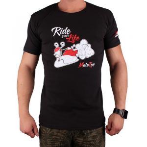 Koszulka z motywem Motozem Ride your life czarna