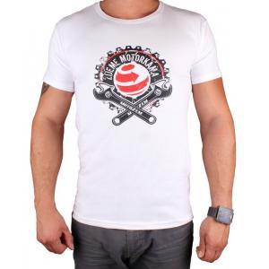 Koszulka z motywem Motozem Žijeme motorkama biała