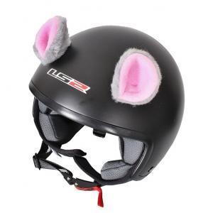 Uszy na kask Myszka różowe