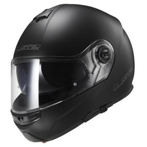 Szczękowy kask motocyklowy LS2 FF325 Strobe czarny matowy