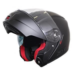 Szczękowy kask motocyklowy RSA TR-01 czarny matowy