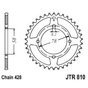 Rear sprocket JT JTR 810-41 41T, 428