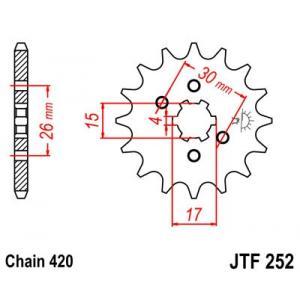 Front sprocket JT JTF 252-12 12T, 420
