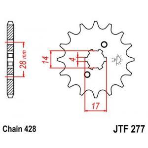 Front sprocket JT JTF 277-13 13T, 428