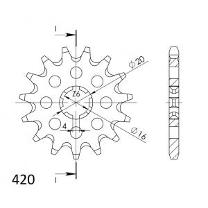 Front sprocket SUPERSPROX CST-546:13 13T, 420