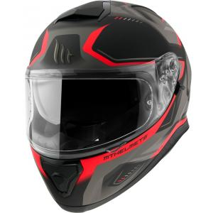 Integralny kask motocyklowy MT Thunder 3 SV Turbine czarno-szaro-czerwony