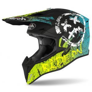 Motocrossowy kask Airoh Wraap Smile żółto-czarny wyprzedaż