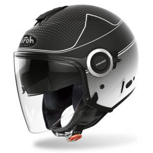 Otwarty kask motocyklowy Airoh Helios Map czarno-biały wyprzedaż