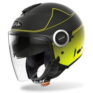 Otwarty kask motocyklowy Airoh Helios Map czarno-fluo żółty wyprzedaż