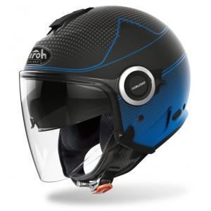 Otwarty kask motocyklowy Airoh Helios Map czarno-niebieski wyprzedaż