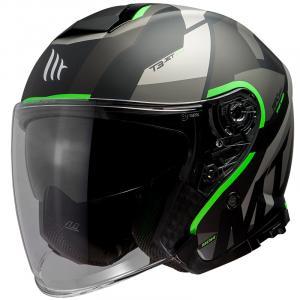 Otwarty kask motocyklowy MT Thunder 3 SV Bow czarno-szaro-fluo zielony