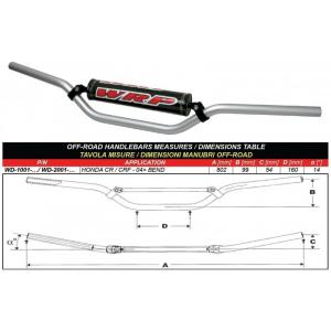 Handlebar WRP PRO-ALU CR/CRF Silver