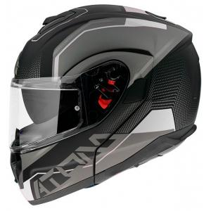 Szczękowy kask motocyklowy MT Atom SV Quark czarno-szaro-biały