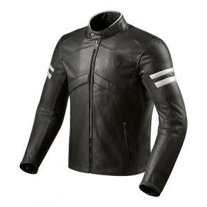 Skórzana kurtka motocyklowa Revit Prometheus czarno-biała wyprzedaż