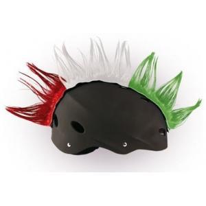 Číro na helmu Mohawk červeno-bílo-zelené