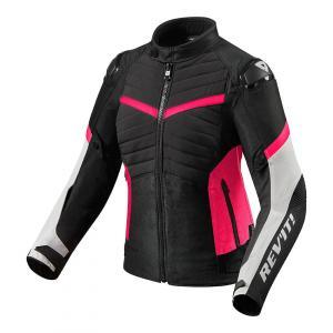 Dámská bunda na motorku Revit Arc H2O černo-růžová wyprzedaż