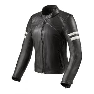 Damska skórzana kurtka motocyklowa Revit Meridian czarno-biała