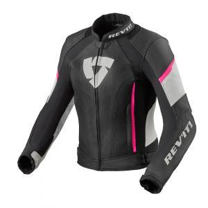 Damska skórzana kurtka motocyklowa Revit Xena 3 czarno-różowa