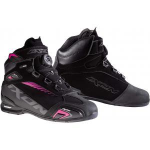 Damskie buty motocyklowe IXON Bull WP czarno-różowe - II. jakość