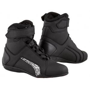 Damskie buty motocyklowe Kore Velcro 2.0 czarno-białe