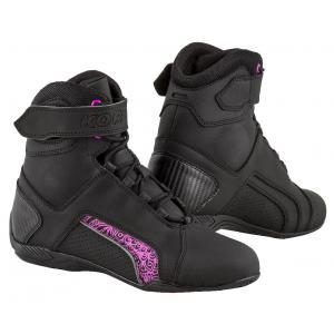 Damskie buty motocyklowe Kore Velcro 2.0 czarno-fioletowe
