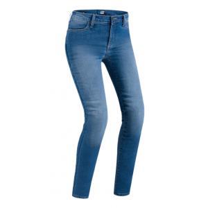Damskie jeansy motocyklowe PMJ Skinny niebieskie wyprzedaż