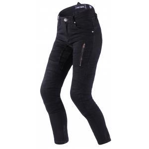 Damskie jeansy motocyklowe Street Racer Stretch II CE czarne