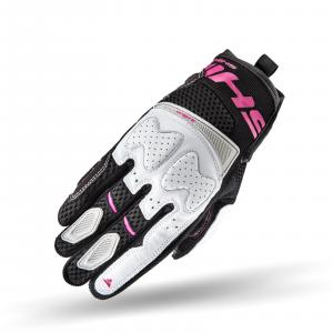 Damskie rękawice motocyklowe Shima Blaze czarno-biało-różowe