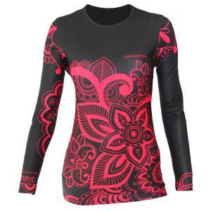 Damska termo koszulka nanosilver® Flower - długi rękaw