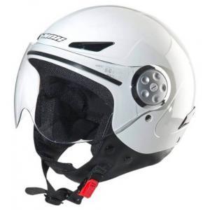 Dziecięcy otwarty kask motocyklowy NOX N216 biały - II. jakość