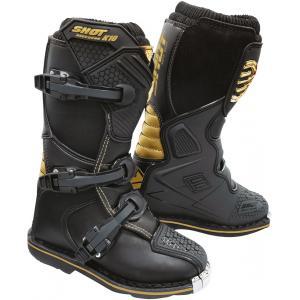 Dziecięce buty motocyklowe Shot K10 2.0 czarno-złote