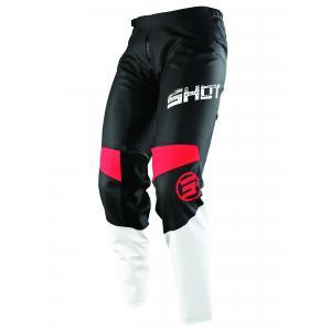 Dziecięce motocrossowe spodnie Shot Devo Slam czarno-biało-czerwone
