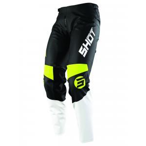 Dziecięce motocrossowe spodnie Shot Devo Storm czarno-biało-fluo żółte wyprzedaż