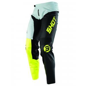 Dziecięce motocrossowe spodnie Shot Devo Storm czarno-szaro-fluo żółte