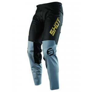 Dziecięce motocrossowe spodnie Shot Devo Storm czarno-szaro-złote