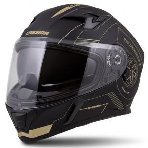 Integralny kask motocyklowy Cassida Integral 3.0 Turbohead czarno-złoty