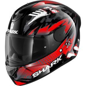 Integralny kask motocyklowy SHARK D-SKWAL 2 Penxa czarno-biało-czerwony