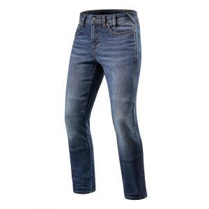 Jeansy motocyklowe Revit Brentwood niebieskie skrócone wyprzedaż