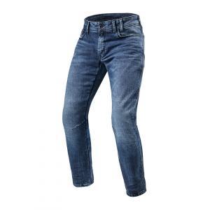 Jeansy motocyklowe Revit Detroit TF niebieskie skrócone wyprzedaż