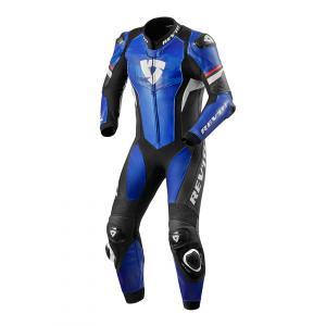 Jednoczęściowy kombinezon motocyklowy Revit Hyperspeed niebiesko - czarny