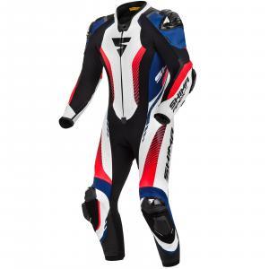 Jednoczęściowy kombinezon motocyklowy Shima Apex RS czarno-biało-niebiesko-fluo czerwony wyprzedaż