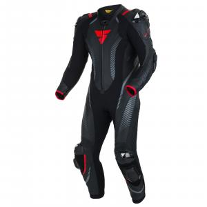 Jednoczęściowy kombinezon motocyklowy Shima Apex RS czarno-czerwony wyprzedaż