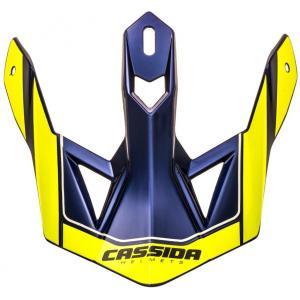 Kšilt pro přilbu Cassida Cross Pro II fluo žluto-modrý