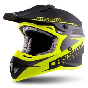 Motocrossowy kask Cassida Libor Podmol czarno-szaro-fluo żółty wyprzedaż
