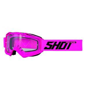 Gogle Shot Assault Solid fluo różowe
