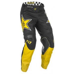 Motocrossowe spodnie FLY Racing Kinetic Rockstar 2021 żółto-czarne