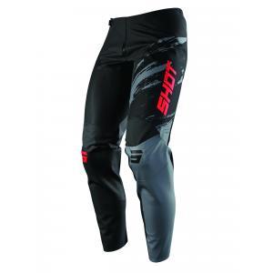 Motocrossowe spodnie Shot Contact Draw czarno-czerwone