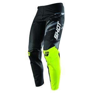 Motocrossowe spodnie Shot Contact Draw czarno-fluo żółte