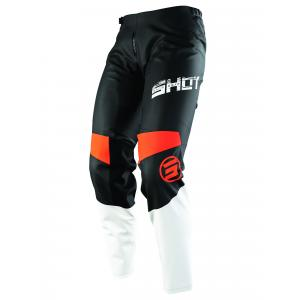 Motocrossowe spodnie Shot Devo Slam czarno-biało-pomarańczowe