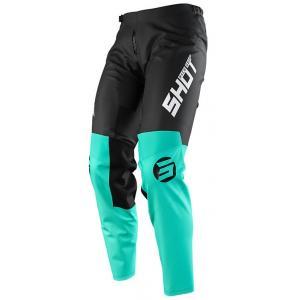 Motocrossowe spodnie Shot Devo Storm czarno-tyrkusowe